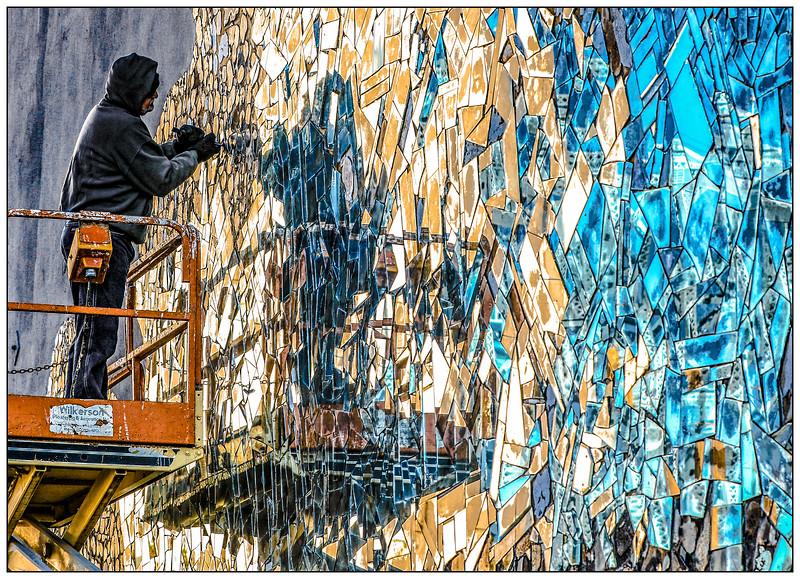 Kentucky Mirror Mosaic restoration project