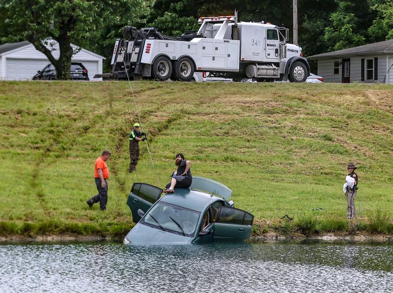 Pond accident