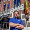Photo by Greg Eans, Messenger-Inquirer.com/geans@messenger-inquirer.com<br /> <br /> Owensboro's Mellow Mushroom owner Bob Holderfield stands outside of the newly-opened restaurant on Second Street before the lunchtime crowd.