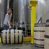 Photo by Greg Eans, Messenger-Inquirer.com/geans@messenger-inquirer.com<br /> <br /> Matt Feldpausch fills a barrel of bourbon at the O. Z. Tyler Distillery in Owensboro, Ky.