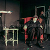 "Photo by Greg Eans, Messenger-Inquirer.com/geans@messenger-inquirer.com<br /> <br /> Sandy Adkinson, from left, Jeremy Scoggins and Daniel Truman rehearse a scene for ""The 39 Steps"" on stage at the Trinity Centre in Owensboro, Ky. The play is based off of the 1935 film directed by Alfred Hitchcock and is Directed by Kelley Elder."