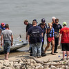Photo by Greg Eans, Messenger-Inquirer.com/geans@messenger-inquirer.com<br /> <br /> Officials with rescue and dive teams from Hancock County and multiple other agencies help to transport Lindsey N. Early, 32, of Cannelton, Ky, from a rescue boat to an ambulance after an intensive search of the Ohio River near Lewisport on Friday, July 21, 2017. Early was reported missing about 1 a.m. Friday by an acquaintance who reported he and Early were swimming near Anderson Island when Early disappeared.