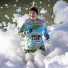 Photo by Greg Eans, Messenger-Inquirer.com/geans@messenger-inquirer.com<br /> <br /> <br /> Haley Fitzgerald of Owensboro finishes the 2017 Color Blast 5k while running through a thick bed of foam that was created for runners at the finish line on Hickman Drive in Owensboro, Ky.
