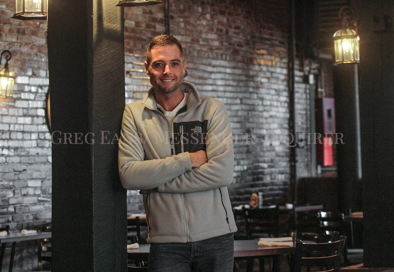 Photo by Greg Eans, Messenger-Inquirer.com/geans@messenger-inquirer.com<br /> <br /> Michael Roe stands in the downstairs dining area at Sara Michaels in Central City, Ky.