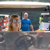 Photo by Greg Eans, Messenger-Inquirer.com/geans@messenger-inquirer.com<br /> <br /> Sharon Brown of Maceo, Ky. wears a blindfold while driving a golf cart in the Blindfolded Golf Cart Competition at the Livermore Fall-Fest.