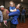 Photo by Greg Eans, Messenger-Inquirer.com/geans@messenger-inquirer.com<br /> <br /> Julie Hawes Gordon picks up her daughter, Lucy, 3, while celebrating her Daviess County Family Court Judge win with supporters at the Pearl Club.