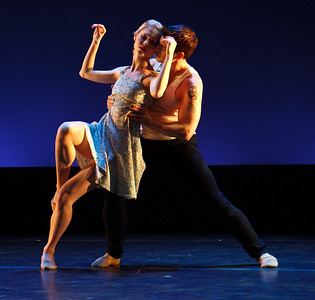 """Victory Road"" - Photo by John McCauley. Dancers: Alicia Curtis and Dustin Kimball"