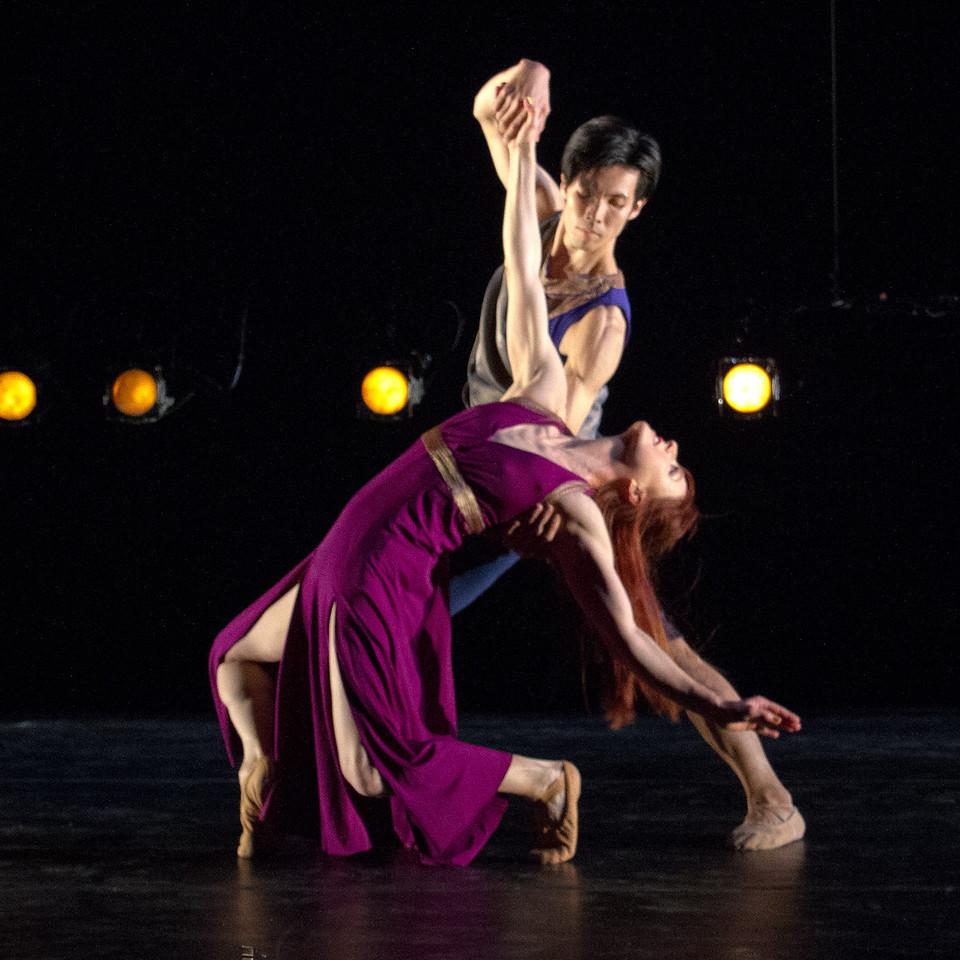"""""""Fire and Air"""" Dancers: Lucy Bowen McCauley, Junichi Fukuda Photo by: John McCauley"""
