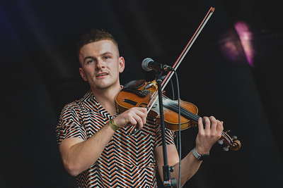 Sean Magee opened the last day of Shoreline Music Festival in Enniskillen.  Photo by Ronan McGrade