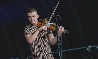 Sean Magee opened the last day of Shoreline Music Festival in Enniskillen.  Photo by Ronan McGrade