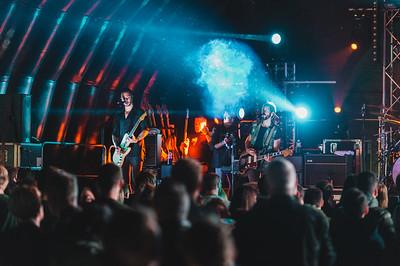Feeder headlined the final night of Shoreline Music Festival. Photo by Ronan McGrade