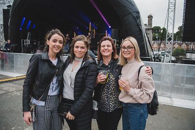 Zoe Brennan, Julie McKiernan, Brenda McGirr and Aine McGirr were looking forward to watching local musician Sean Magee.  Photo by Ronan McGrade