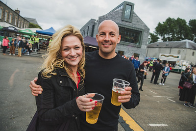Erin Keown and Stephen Dickson were looking forward to seeing Feeder play in Enniskillen.  Photo by Ronan McGrade