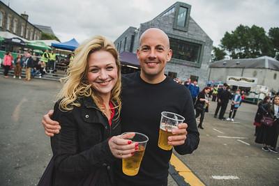 Erin Keown and Stephen Dickson were looking forward to seeing Feeder play in Enniskillen.  Photo by Ronan McGrade