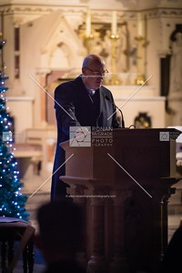 Monsignor Peter O'Reilly speaking at the carol service.  Picture: Ronan McGrade