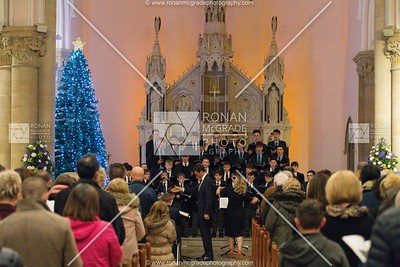 Students from St Michael's College singing at the St Michael's carol service.  Picture: Ronan McGrade