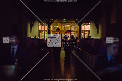 Students from St Michael's College opened the carol service with an atmospheric candlelit procession.  Picture: Ronan McGrade