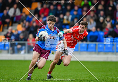 Luke Flanagan runs the ball out of the St Michael's defence.  Picture: Ronan McGrade