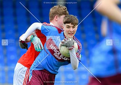 Garvan Quigley looks for options under pressure.  Picture: Ronan McGrade