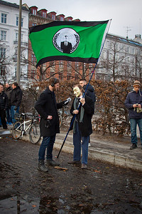 Stop ACTA demonstration. Copenhagen, Denmark 25-02-2012