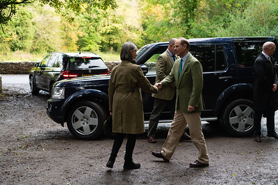 Prince Edward, the Earl of Wessex, during his visit to Claddagh Glen, Co Fermanagh on Wednesday 9th October 2019.  Picture: Ronan McGrade