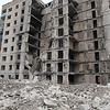 Bombed apartment building