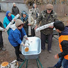 NRC provides the inhabitants with coal and firewood for heating, as a preparation for the harsh winter.<br /> When temperature comes below minus 25 degrees Celsius, The people will need heating in the houses in order to survive. The amount of coal is limited, and the coal is weighted so that there will enough for everyone. <br /> The firewood were stabled in piles; one for each family.<br /> Photo: Ingrid Prestetun/NRC