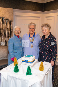 Norma Browne, Agnes McFarland (President of WI) and Mabel Black.  Picture: Ronan McGrade