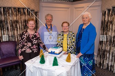 Hilda Lucy, Treasurer, Agnes McFarland, President, Margaret Porter, Secretary, and Dorothy McCaffrey, honoured guest. Picture: Ronan McGrade