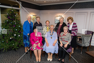 Agnes McFarland, President of Fermanagh WI, front centre, with fellow members and guests at the Killyhevlin for their recent dinner evening. Picture: Ronan McGrade