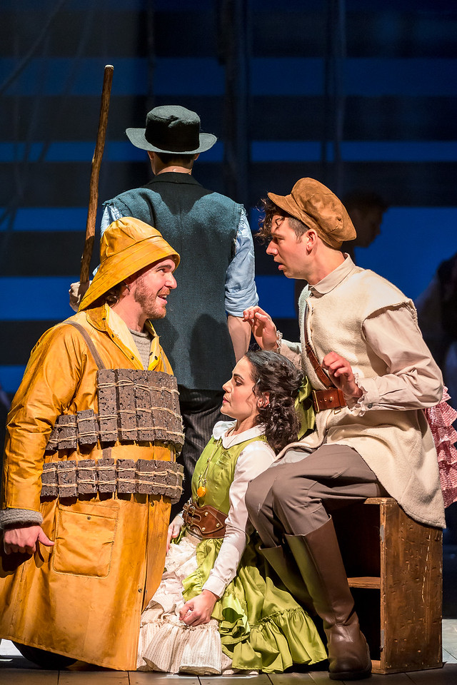"PETER AND THE STARCATCHER<br /> Drury Lane Theatre<br /> ""And Sally Dolembo's costumes, full of humorous touches, are scenery in themselves."" <br /> -- Hedy Weiss, Chicago Sun-Times"