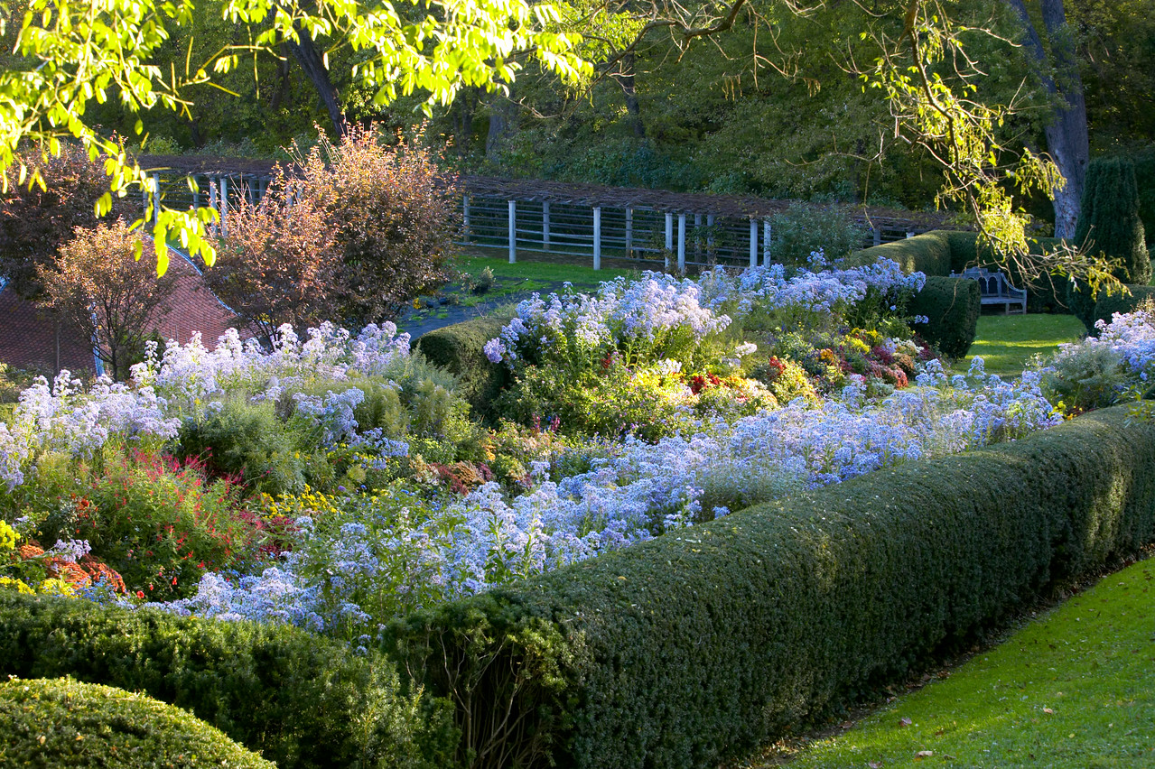 Overlooking the Herbaceous Borders in the Dumbarton Oaks Gardens in October