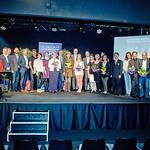 70 Jahre Musikschule Melk wurde am Freitag, 5. Mai in der Tischlerei gefeiert: Alle Lehrer und Ehrengäste waren am Ende des Festaktes auf der Bühne. <br /> Foto: Stadt Melk / Franz Gleiß