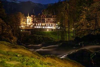 Giessbachfälle mit Grand Hotel Giessbach