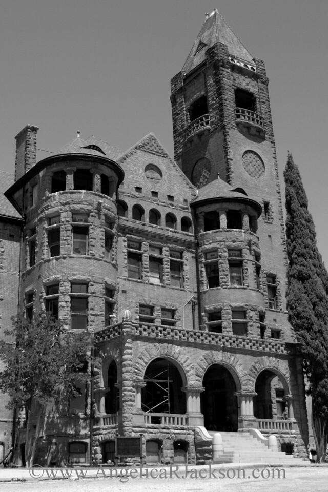 """Turrets and Towers"" (Black & White)<br /> Preston Castle exterior<br /> April 2013"