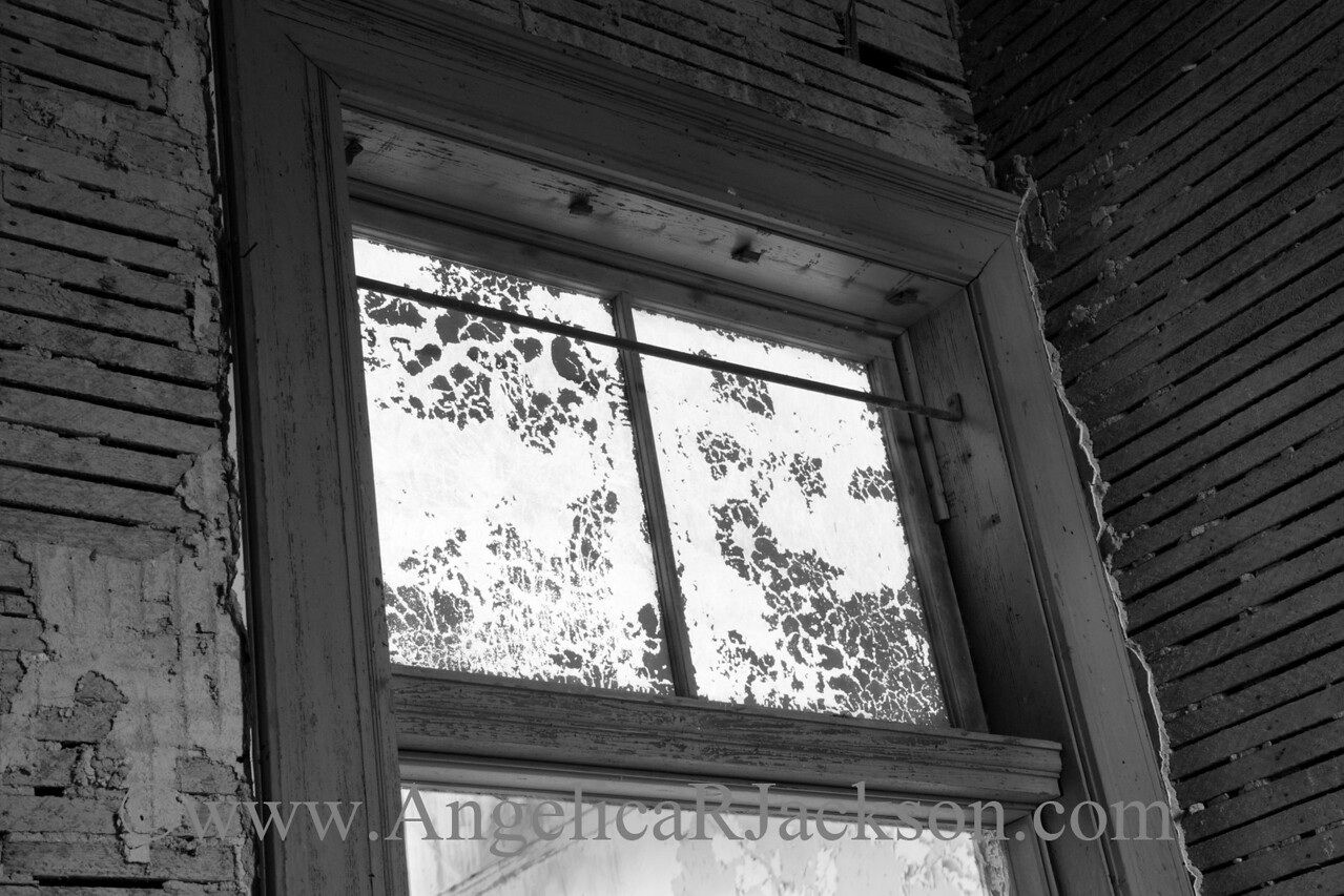 """""""Air Passage"""" (Black & White)<br /> Transom and doorframe in a stripped, 3rd floor room.<br /> April 2013"""