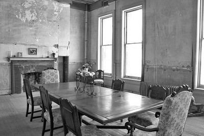 """Lambent"" (Black & White) Staff dining room April 2013"