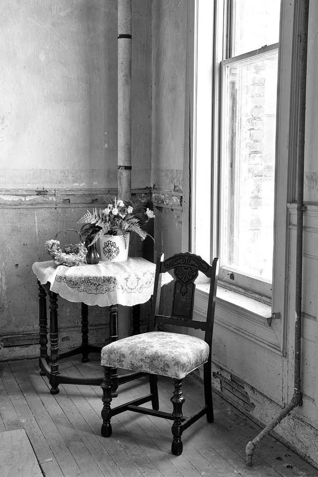 """To Task"" (Black & White)<br /> Staff dining room<br /> April 2013"