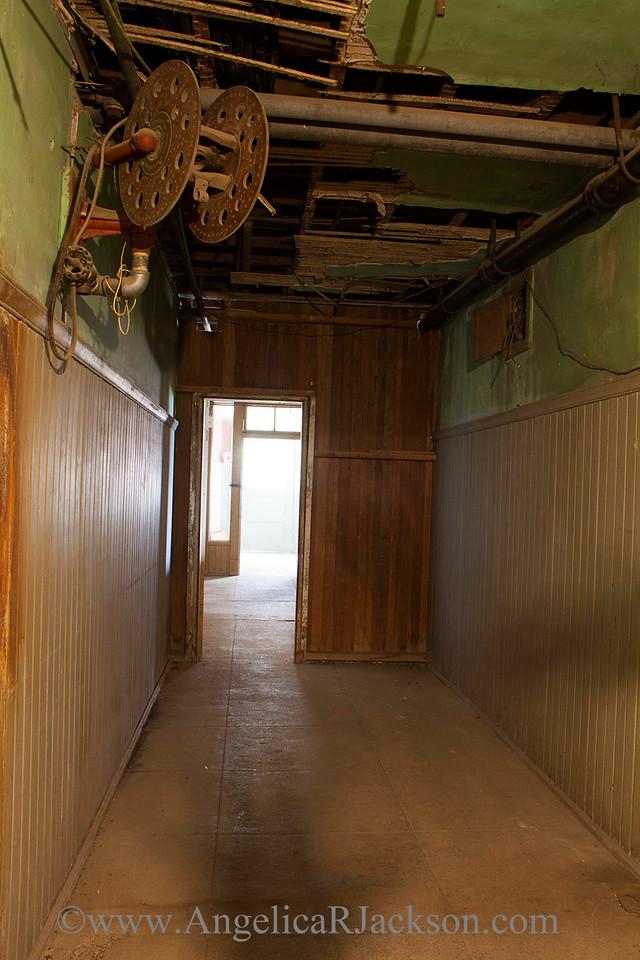 """Shadowplay""<br /> Basement corridor with shadows<br /> April 2013"