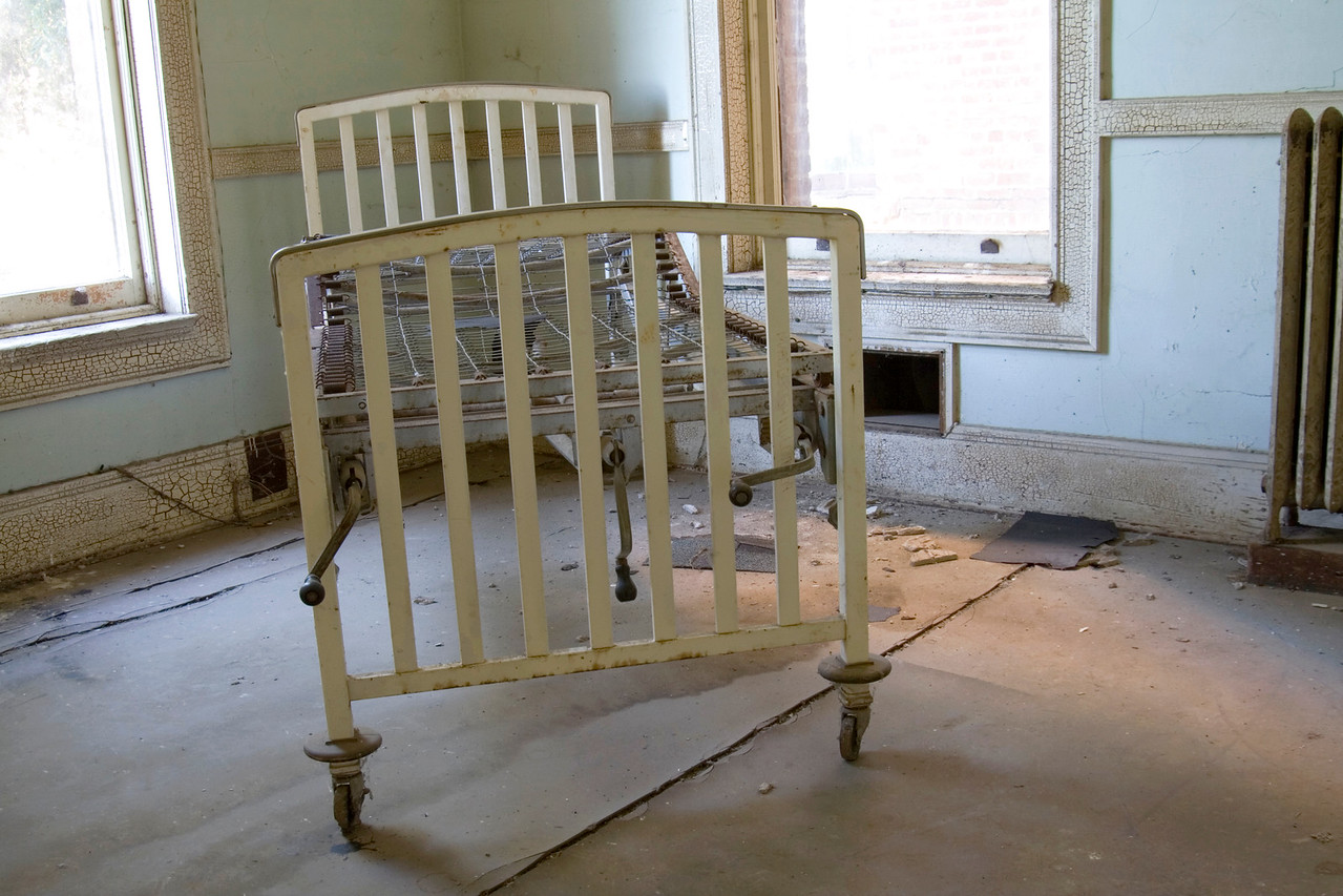 """""""Infirmary (Full Frame)""""<br /> This hospital bed is in the doctor's exam room, adjacent to the doctor's office and pharmacy."""