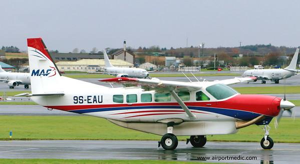 9S-EAU Ce208 Mission Aviation Fellowship @ Prestwick Airport (EGPK)