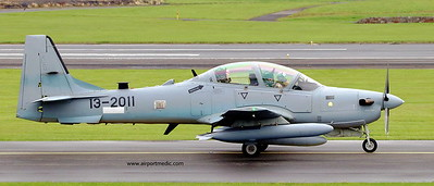 13-2011 Tucano A-29 Afgan Air Force @ Prestwick Airport (EGPK)