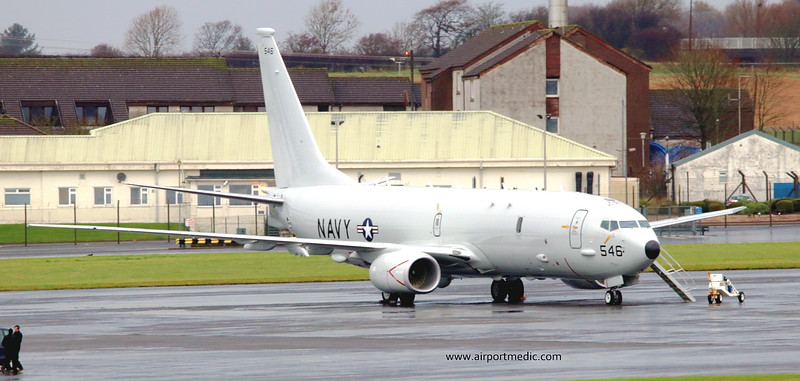 169546 P8A USN @ Prestwick Airport (EGPK)