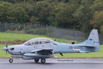 13-2005 Tucano A-29 Afgan Air Force @ Prestwick Airport (EGPK)