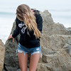Pretty Blonde Model Goddess in Cutoff Jeans Shorts and a Hoodie !