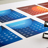 Flat sheets from a printed calendar<br /> <br /> Note to Inspector - I have designed and printed this calendar for the sole purpose of stock photography.