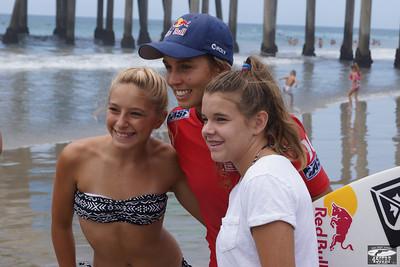 Pretty Pro Surf Girl Aussie Sally Fitzgibbons! @ Huntington Beach Pier!
