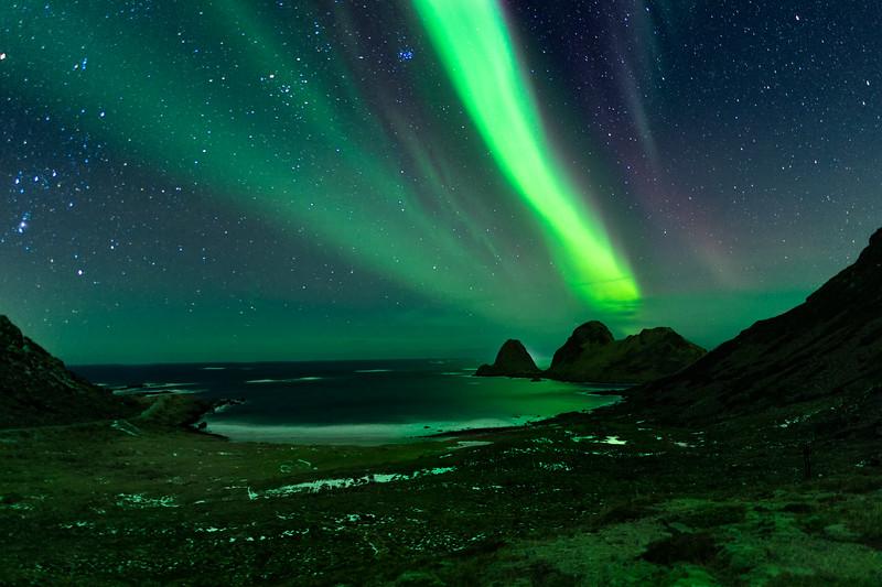 Nordlys over Nykvåg