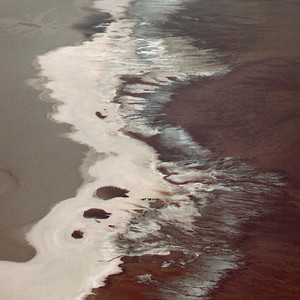 Salt flow at Badwater; taken from Dante's View