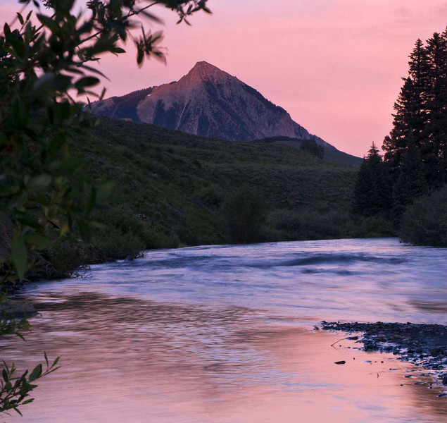 Slate Creek at sunset